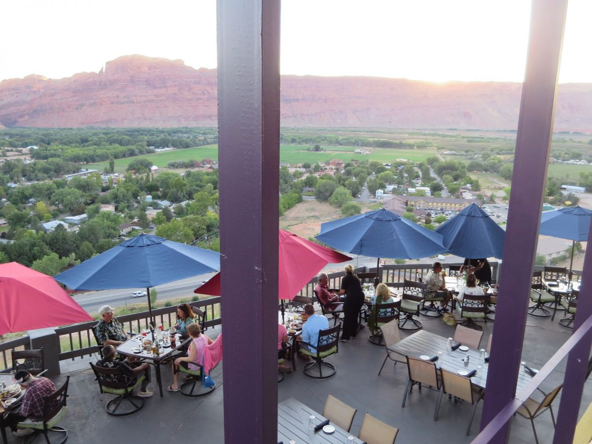 View from Sunset Grill, Moab, Utah