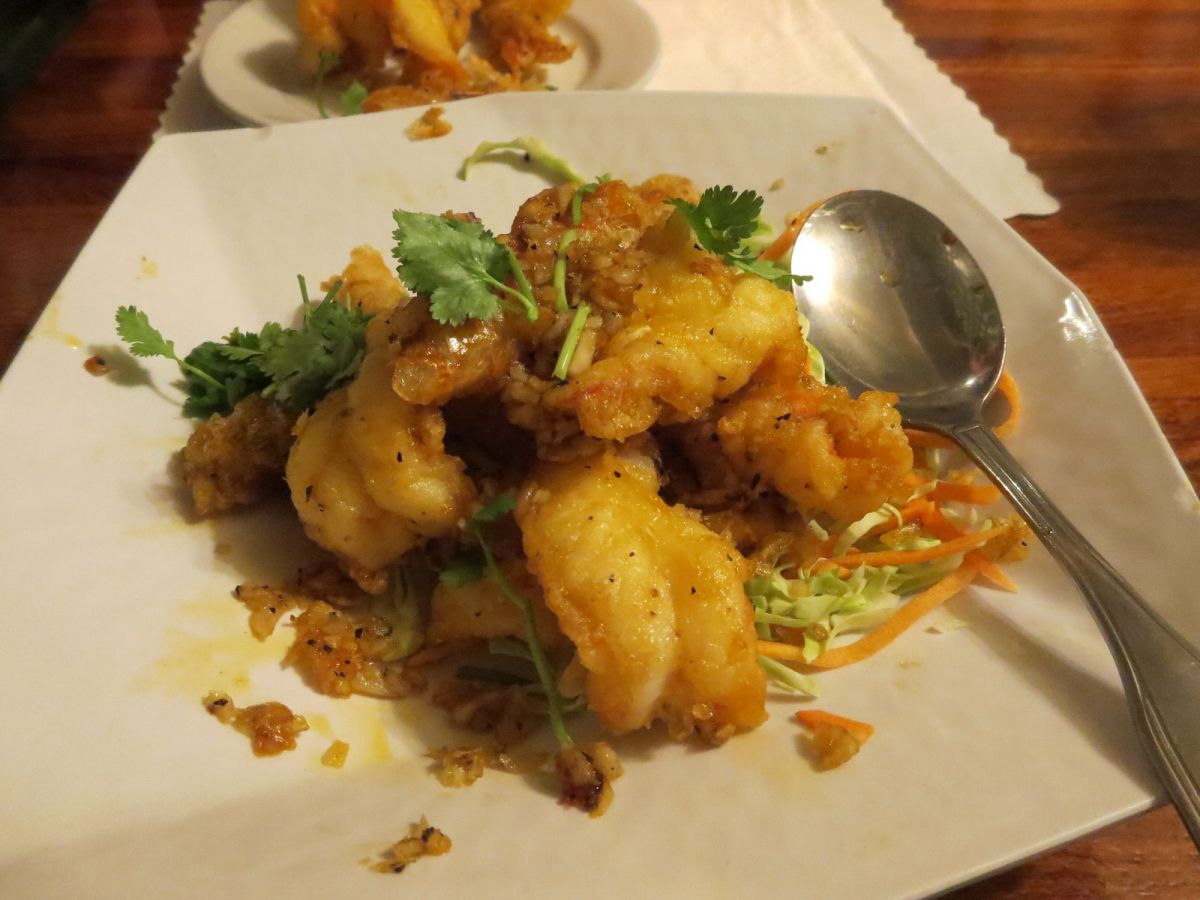Crispy Garlic Prawns at Lotus of Siam, Las Vegas