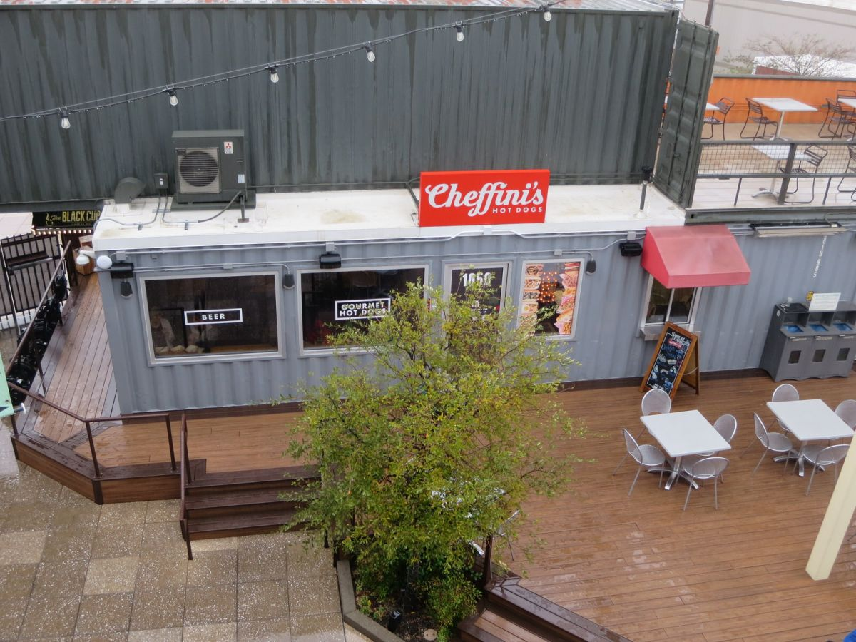 Cheffinis Hot Dogs, downtown Las Vegas Container Park Mall