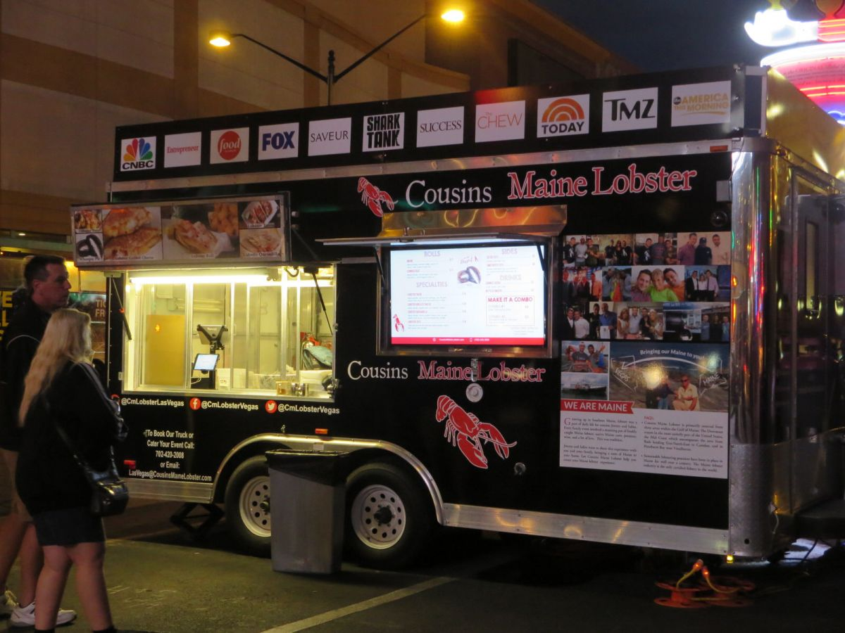 Cousins Main Lobster food truck, downtown Las Vegas