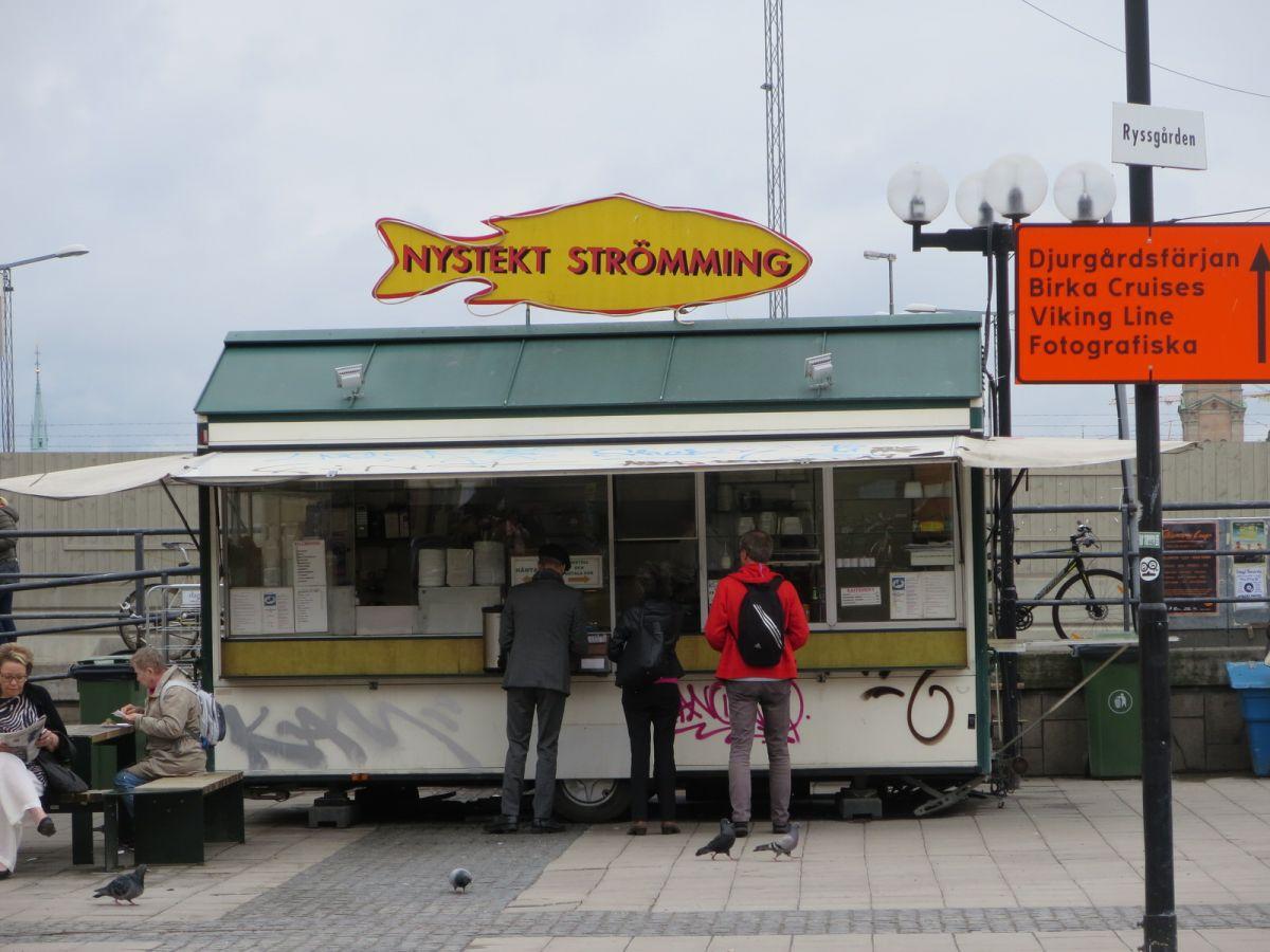 Nystekt Stroming food truck in Slussen, Stockholm