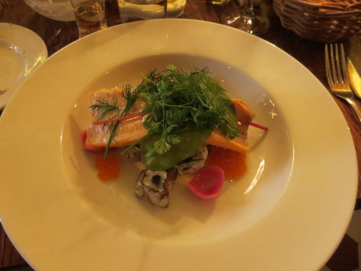 Fish special at Pelikan restaurant, Stockholm