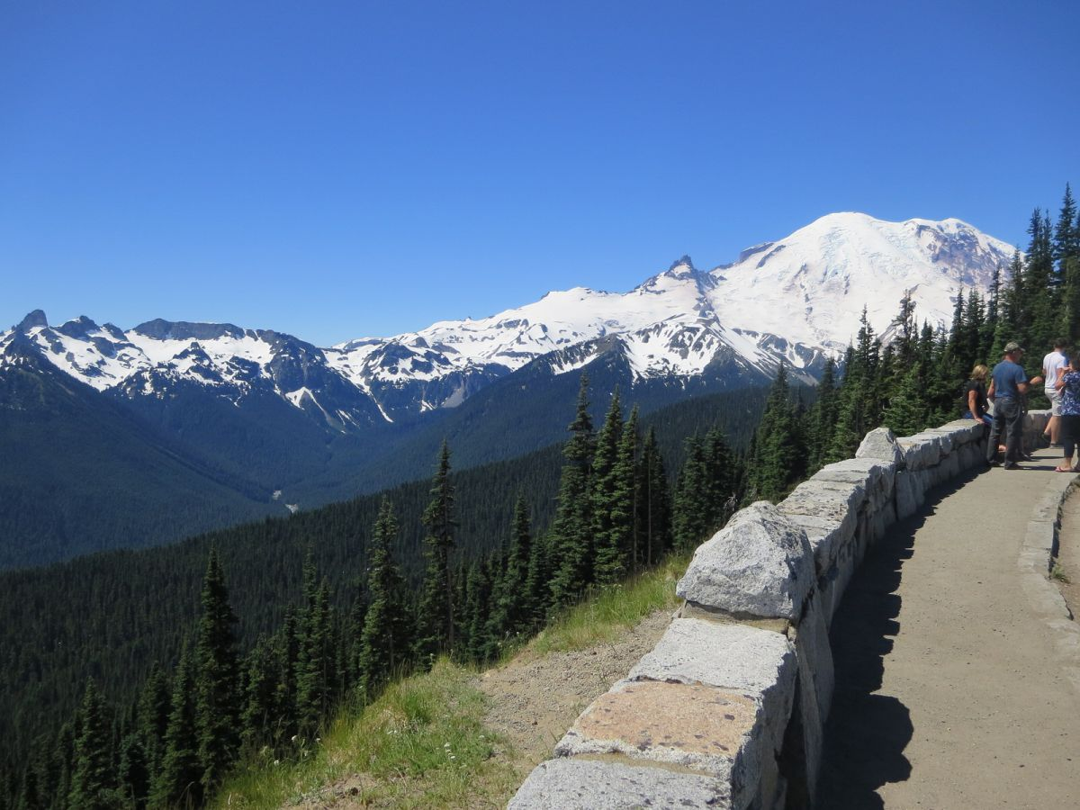 Scenic lookout on the way to Sunrise in Mt Rainier National Park