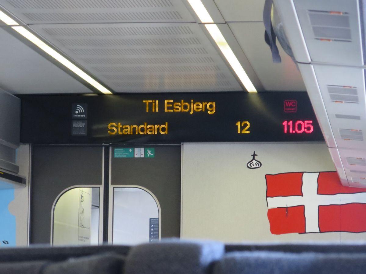 Train from Copenhagen to Esbjerg Denmark