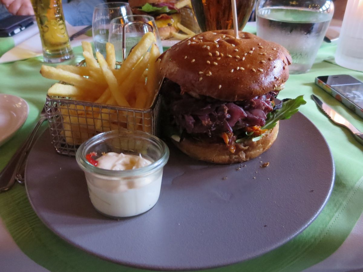 burger at Dronning Louise in Esbjerg