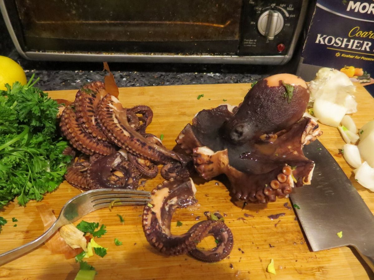 cooking octopus