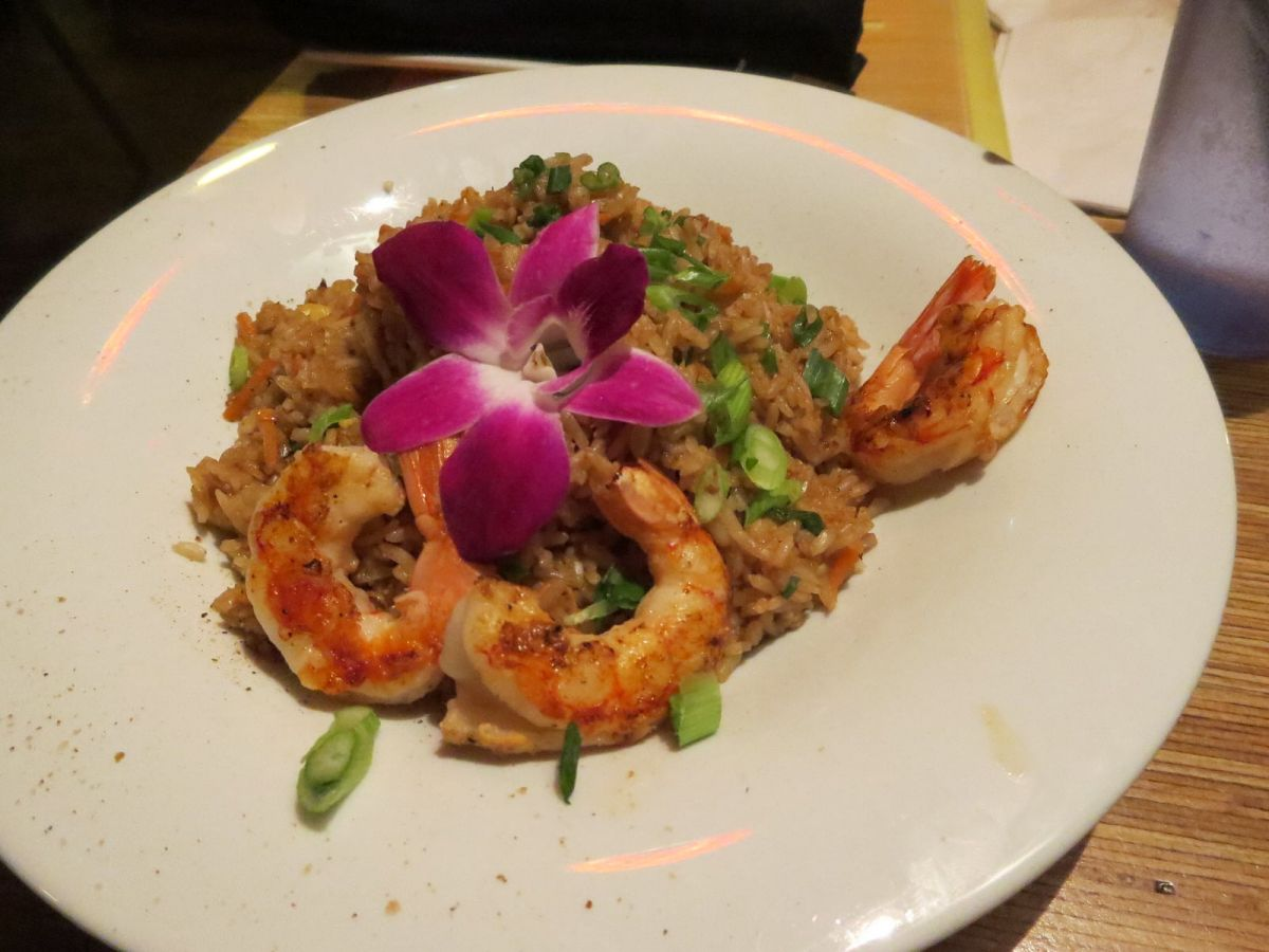 Prawn fried rice at Tonga Hut tiki bar