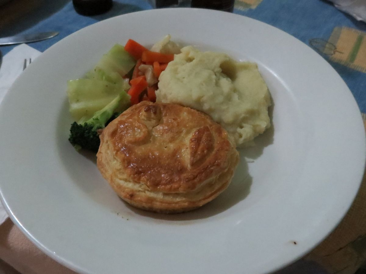 Mushroom pot pie at Breezers Bar & Grill Barbados