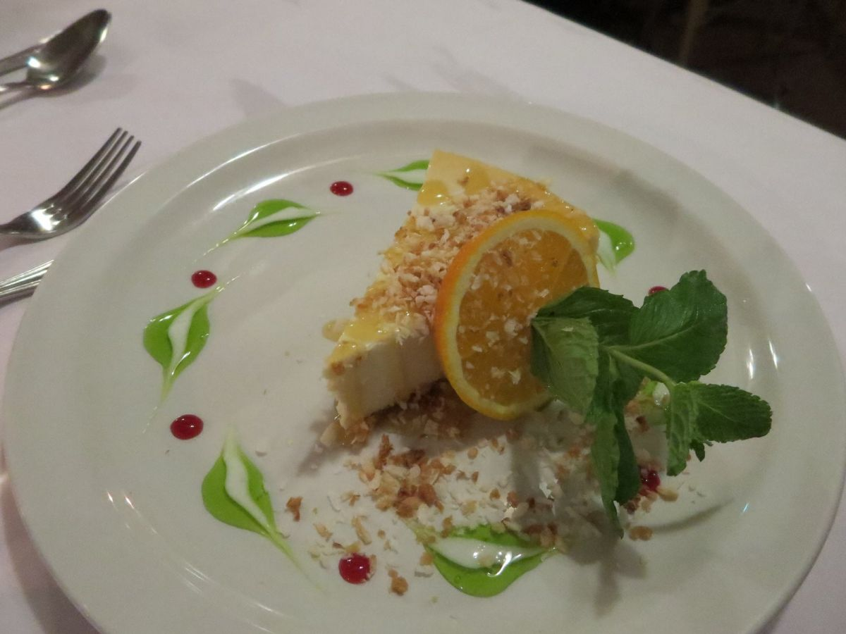Orange coconut cheesecake at Brown Sugar