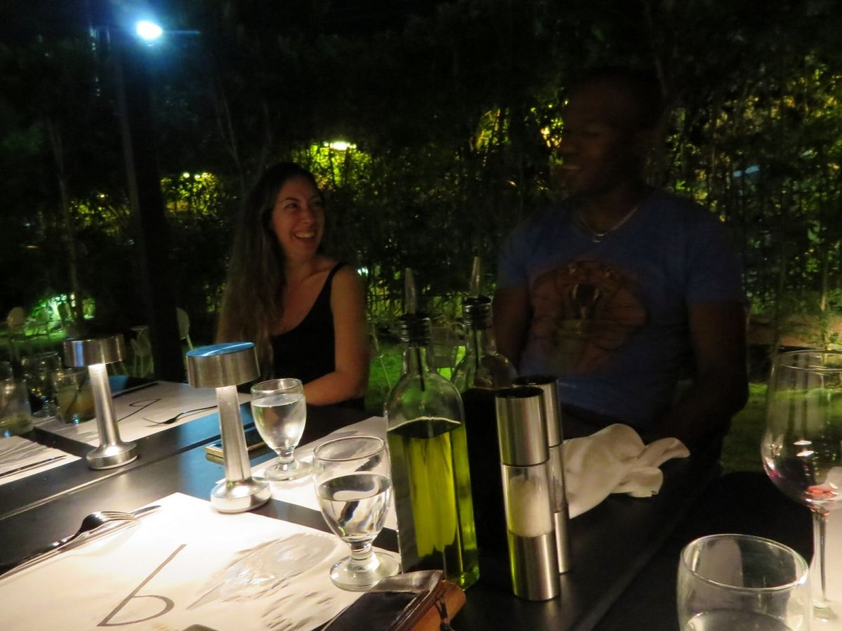 Dinner at Buzo,Barbados