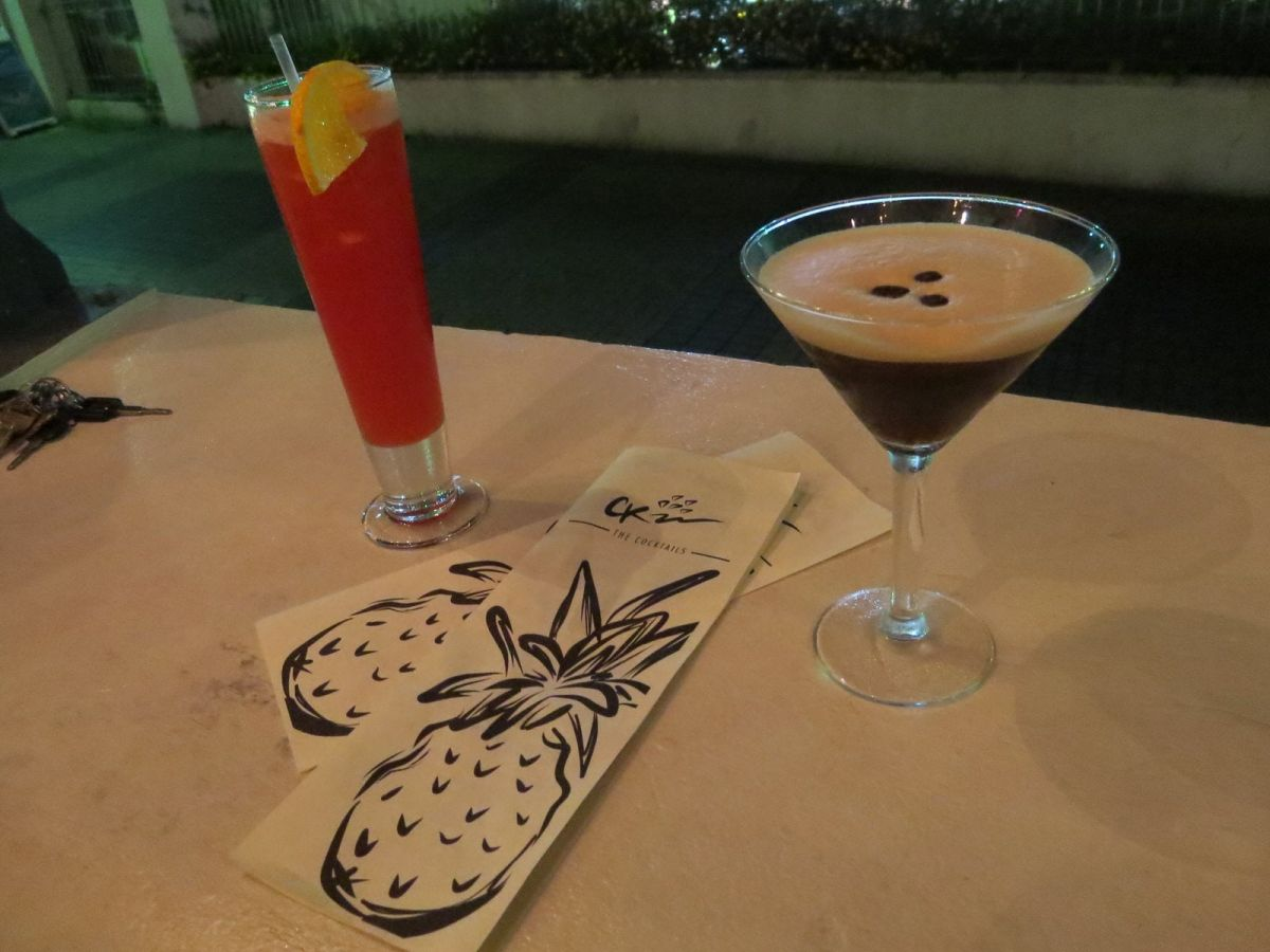 Cocktails at Cocktail Kitchen in St. Lawrence Gap, Barbados