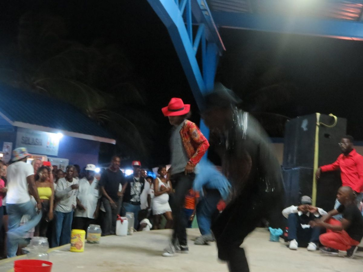 Michael Jackson dancers at Oistins Fish Fry, Barbados