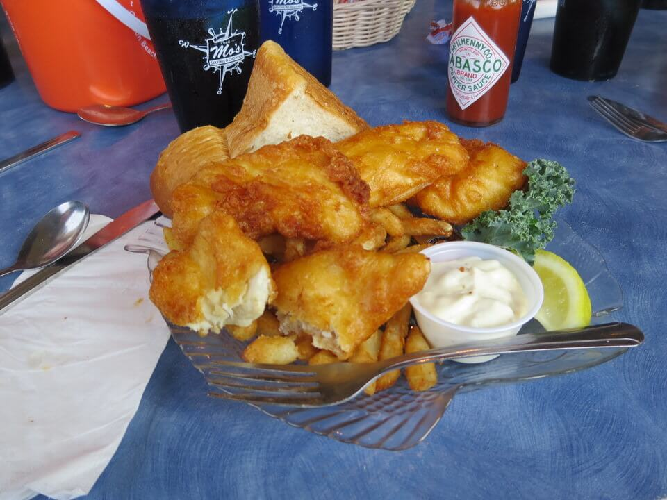 Fish and chips at Mo's Chowder in Cannon Beach