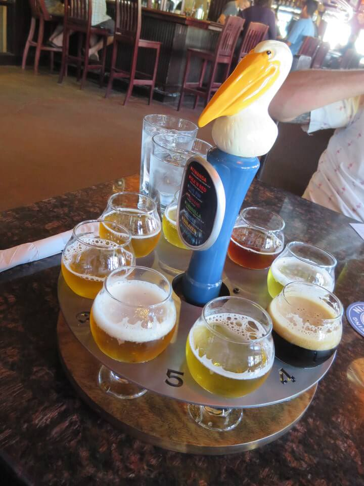Pelican Brewing sampler, Pacific City, Oregon Coast