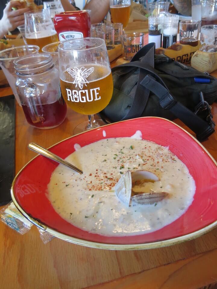 Clam chowder, Rogue Brewery Newport, Oregon