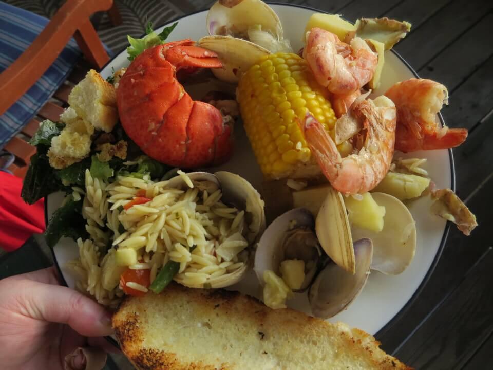 Seafood boil feast