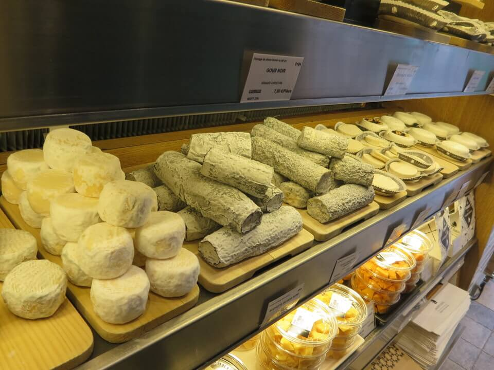 Cheeses at Fromagerie Laurent Dubois in Bastille, Paris