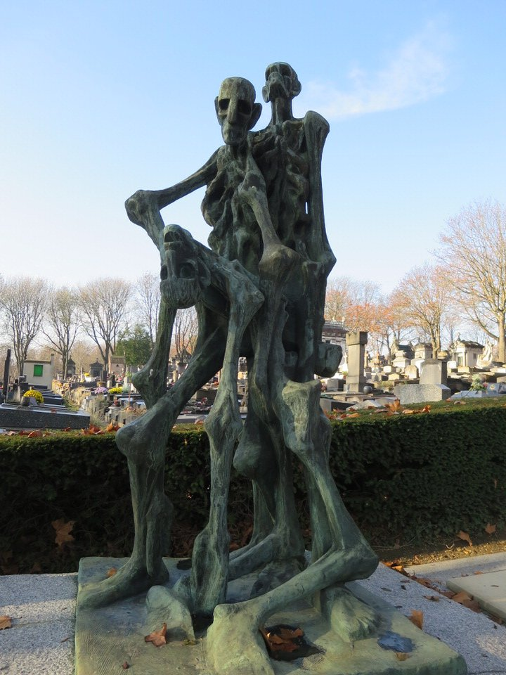 Holocaust concentration camp memorial at Père Lachaise Cemetery Paris