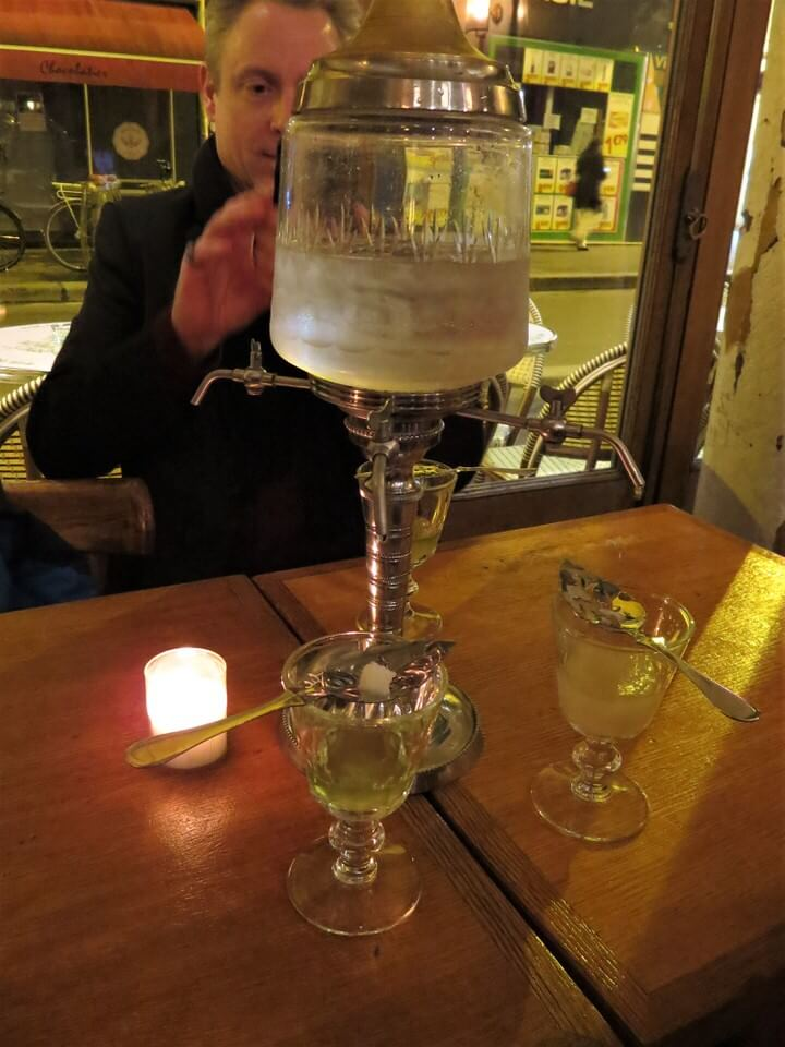 Absinthe louche fountain at La Fee Verte, Paris