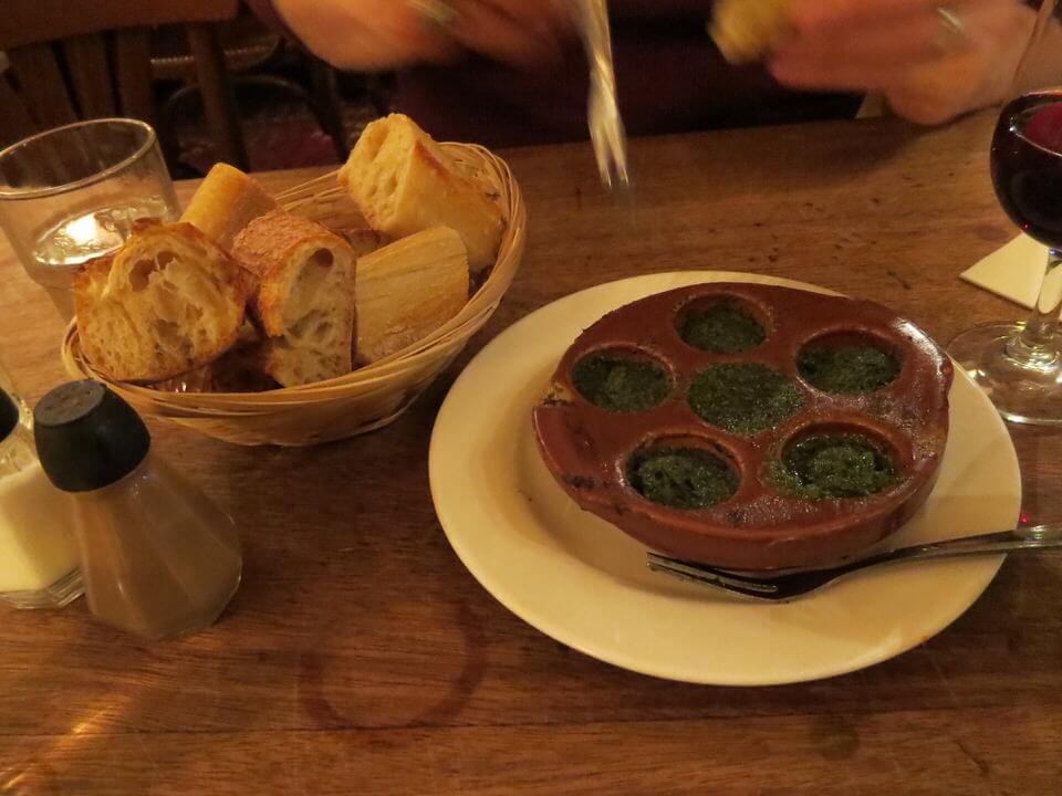 Escargot at Cafe De L'Industrie, Paris