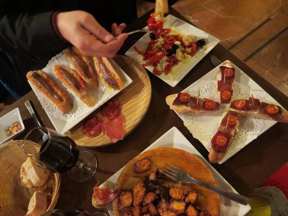 Tapas at Le Jamoncito Spanish restaurant, Paris
