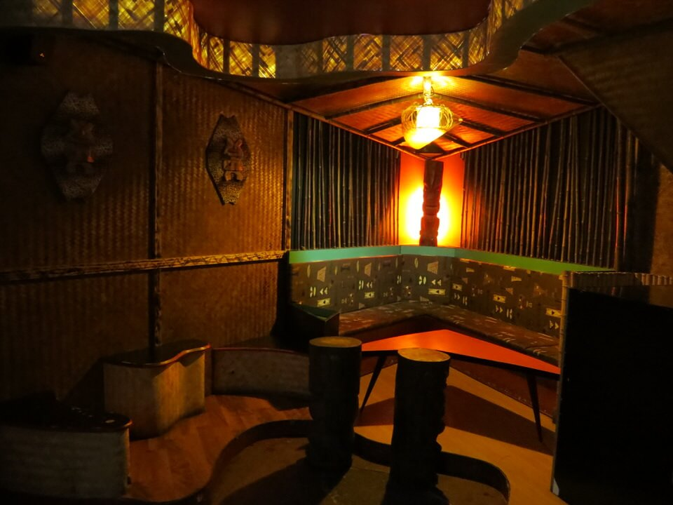 Downstairs room at Le Tiki Lounge, Paris