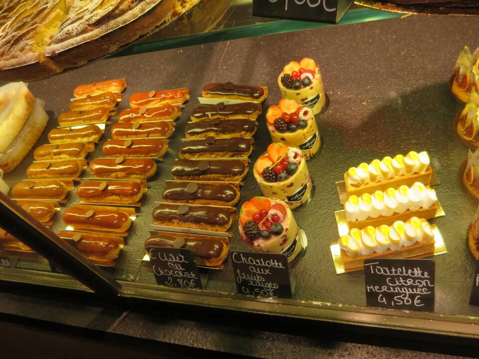 Gorgeous eclairs and pastries at Miss Manon Bakery, Paris