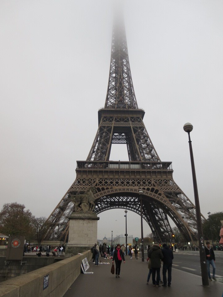 Eiffel Tower from the front side