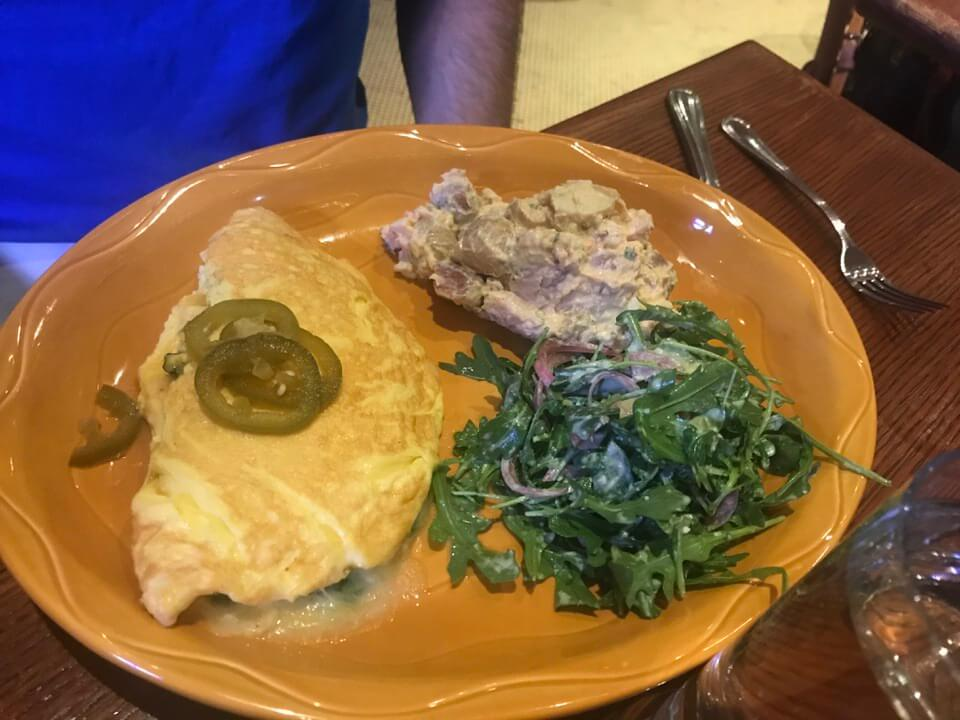 NY Cheddar & Kale Omelette Red Rooster