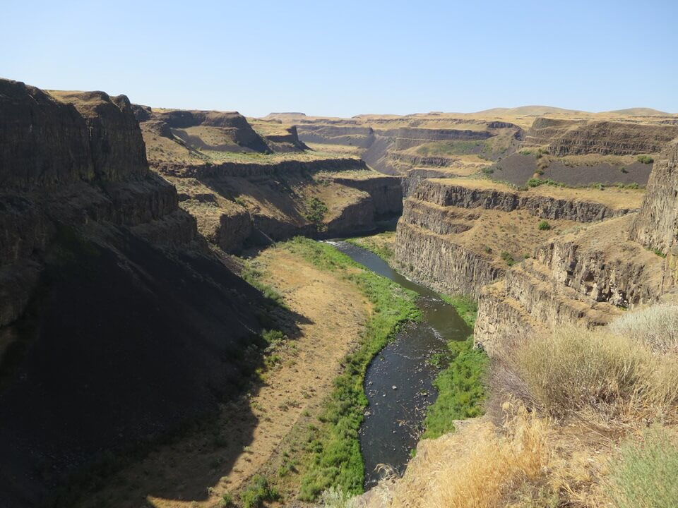 Snake River leading to Palouse Falls