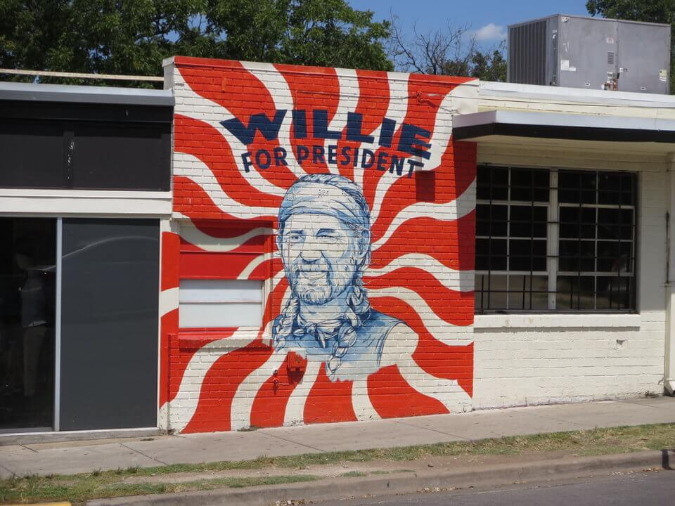 Willie for President Mural South Congress Austin