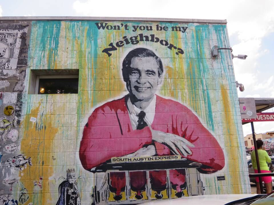 Mr Rogers mural South Congress Austin