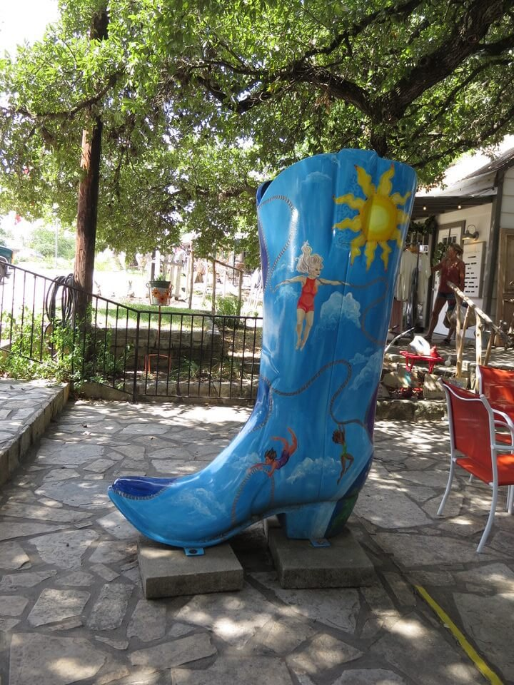 Cowboy boot in Wimberley Texas