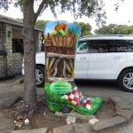 Cowboy boot in Wimberley Texas