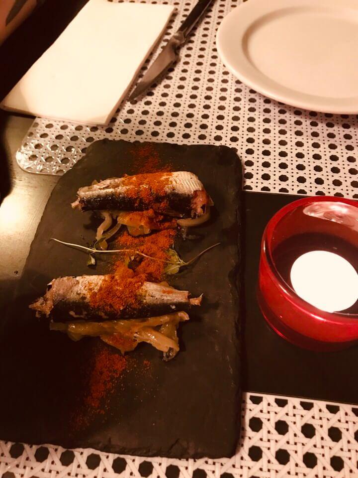 Sardines at Cervejaria do Bairro