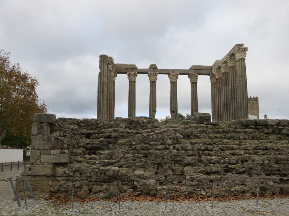 Roman ruins in Evora, Portugal
