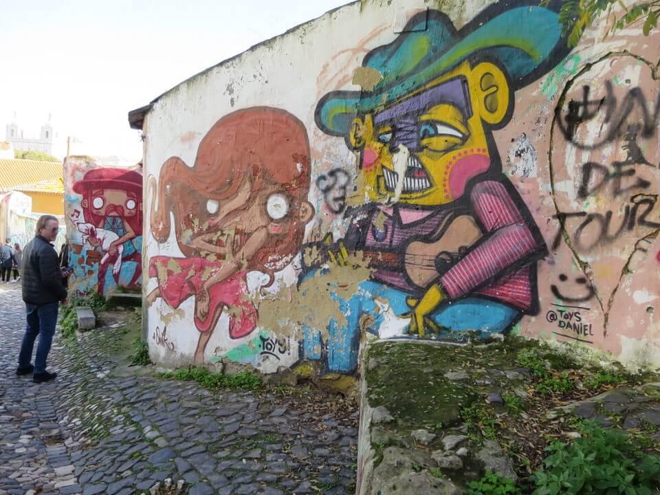 Street art in Afalma, Lisbon