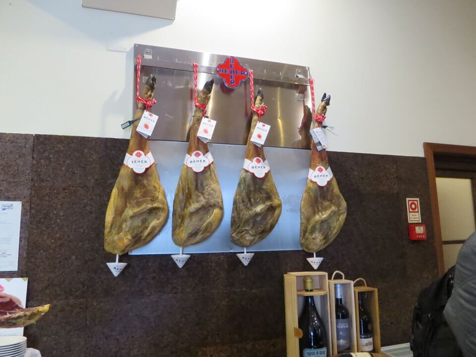 Iberian ham at O Parque does Leitoes, Evora