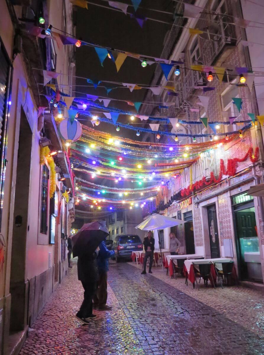 Bairro Alto at night, Lisbon