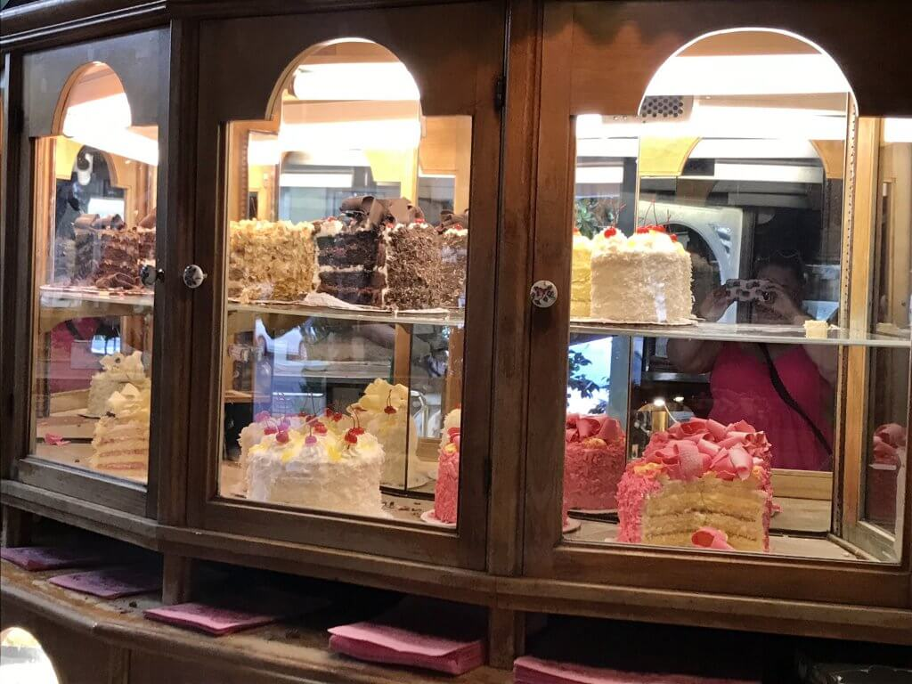 Cakes at the Madonna Inn bakery