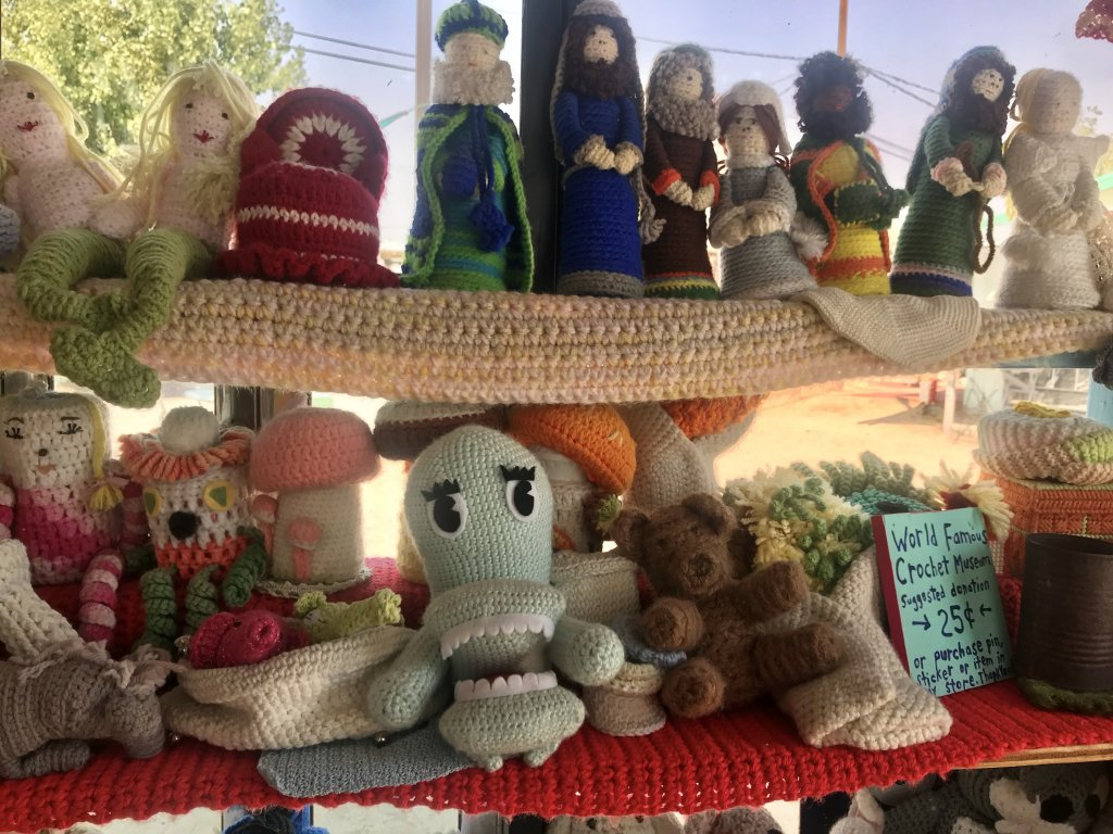 road-tripping during COVID world famous crochet museum joshua tree